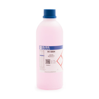 Solution tampon coloree pH 4 01   0 01 pH  certificat d analyse  bouteille 500 mL