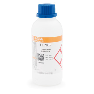 Solution d etalonnage de conductivite a 111 8 mS/cm  bouteille 230 mL