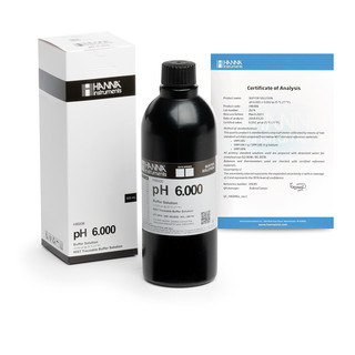 Solution tampon pH 6 000   0 002 pH  certificat d analyse  bouteille 500 mL