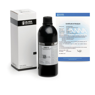 Solution tampon pH 12 000   0 002 pH  certificat d analyse  bouteille 500 mL