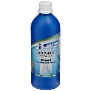 Solution tampon pH 7 400   0 002 pH  certificat d analyse  bouteille 500 mL