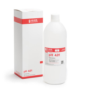 Solution tampon pH 4 01  coloration rouge  bouteille 1 L