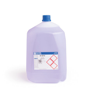 Solution tampon coloree pH 10 01   0 01 pH  certificat d analyse  bouteille 3 78 L