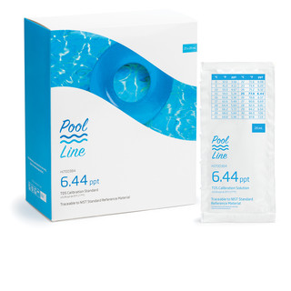 Solution d etalonnage TDS a 6 44 g/L  25 sachets de 20 mL - Pool Line